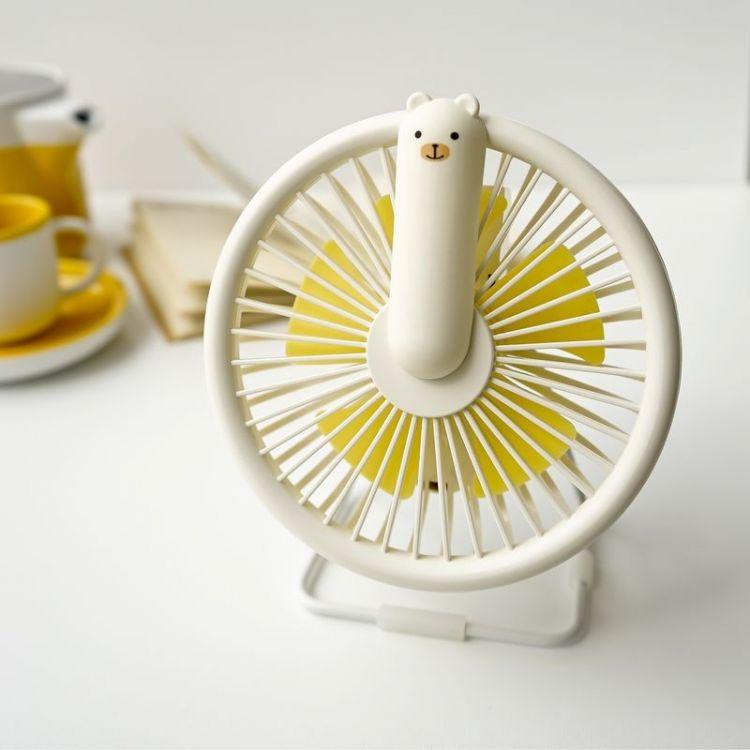 Rabbit&Friends - Wiatraczek Lampka Miś Kremowy