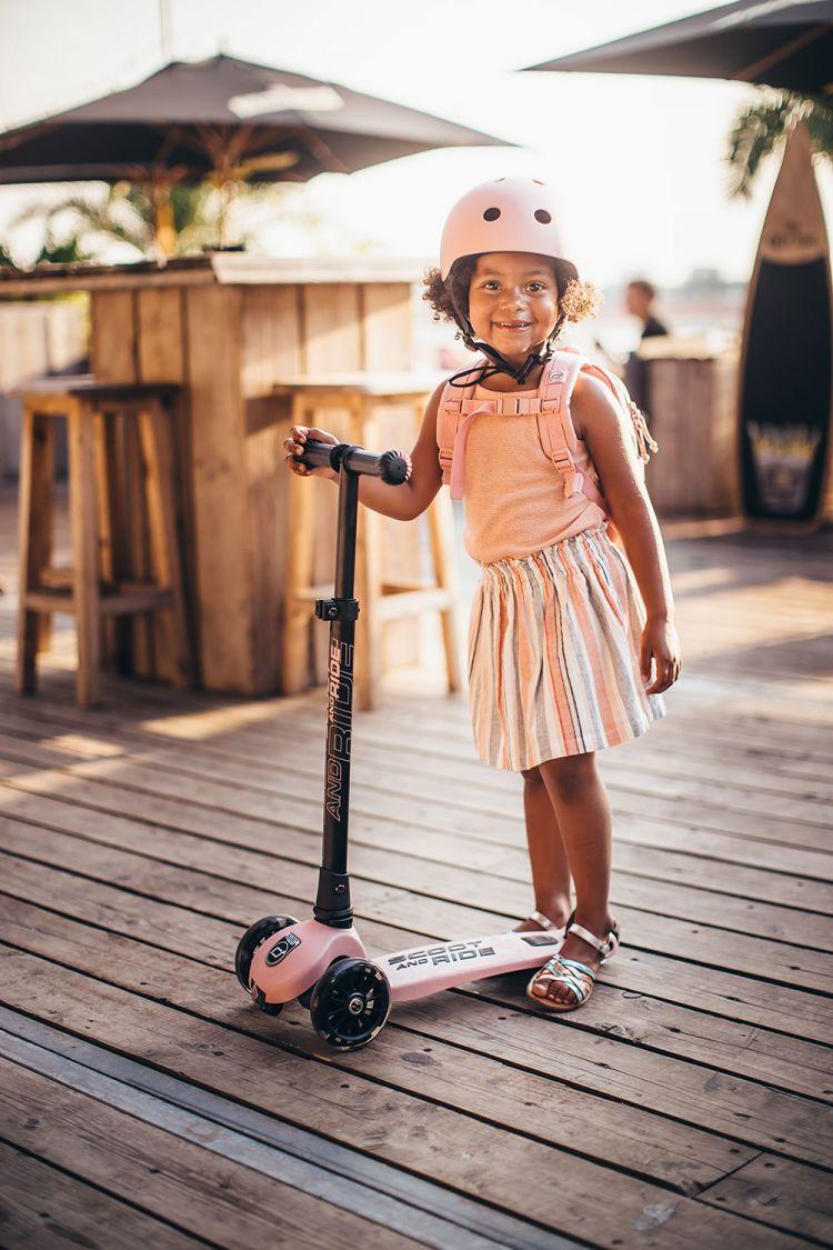 Scootandride - Plecak na hulajnogę dla dzieci 1-5 lat Rose