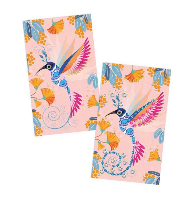 Janod - Zestaw Artystyczny  Czarodziejskie Cyrkonie Piękne Ptaki 7+