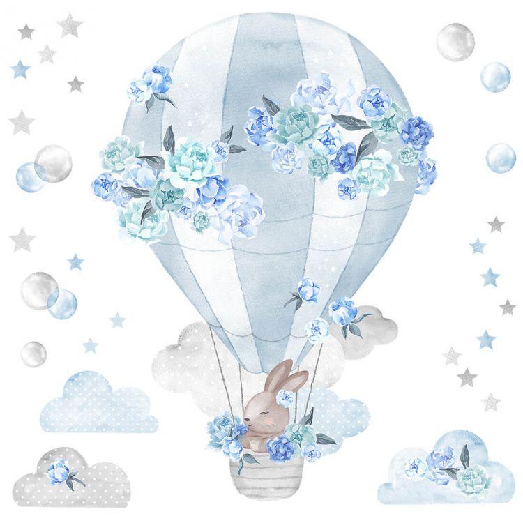 Pastelowelove - Naklejka na Ścianę Balon Niebieski