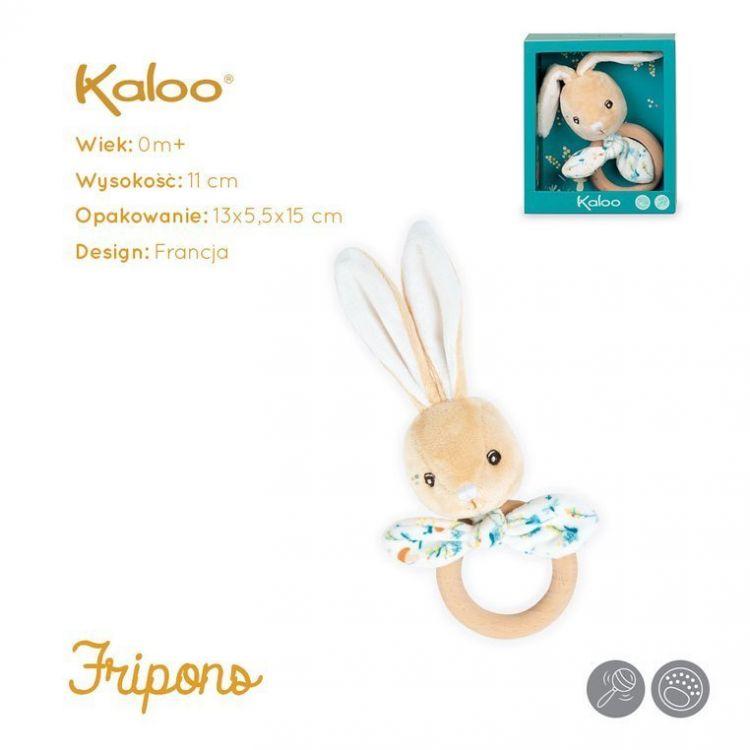 Kaloo - Gryzak Grzechotka Zajączek Justin 11 cm w Pudełku Kolekcja Fripons
