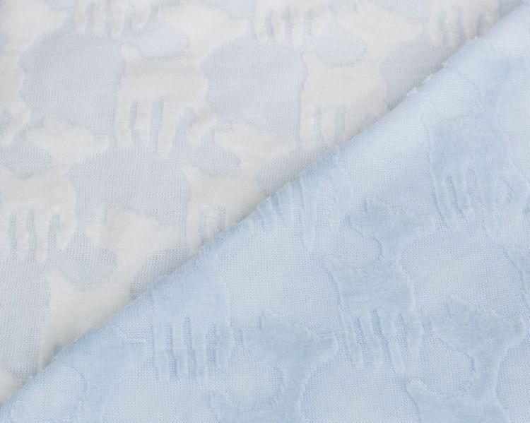 Laessig - Ekologiczny Kocyk SeaCell Lela Pastelowy Niebieski
