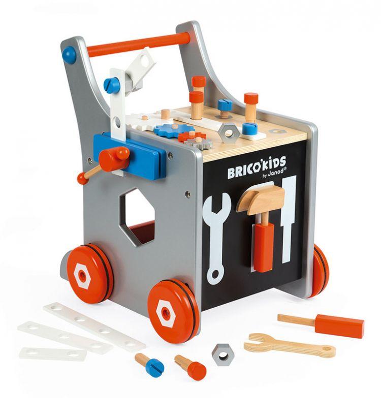 Janod - Wózek Warsztat Magnetyczny z Narzędziami Brico Kids 18m+