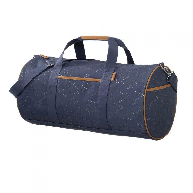 Fresk - Torba Weekender Bag Złote Kropki Indigo