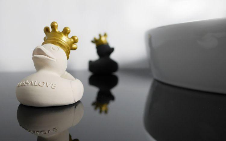 Lullalove - Royal Duck Kaczuszka do Kąpieli z Naturalnego Kauczuku Biała