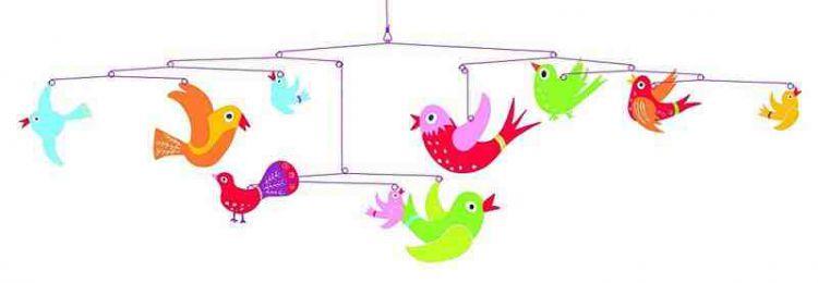 Djeco Mobile Kolorowe Ptaki