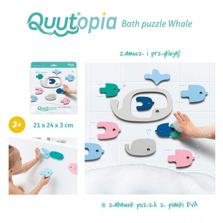 Quut - Zestaw Puzzli Piankowych Quutopia Wieloryby