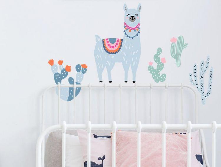 Pastelowelove - Naklejka na Ścianę Lamy Pastelowe