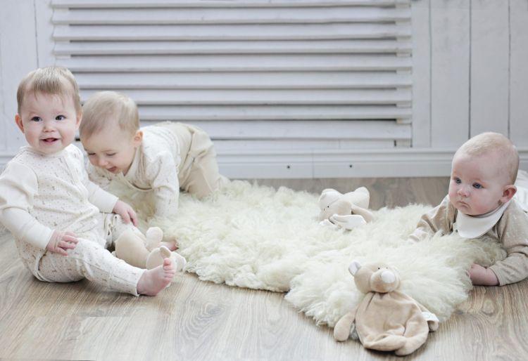 Wooly Organic - Organiczny Gryzak Classic Bunny Uszy Zajączka 19cm