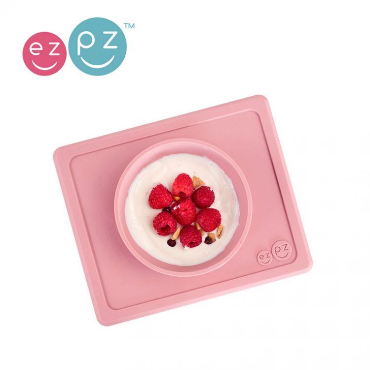 EZPZ - Silikonowa Miseczka z Podkładką 2w1 Mini Bowl Pastelowy Róż