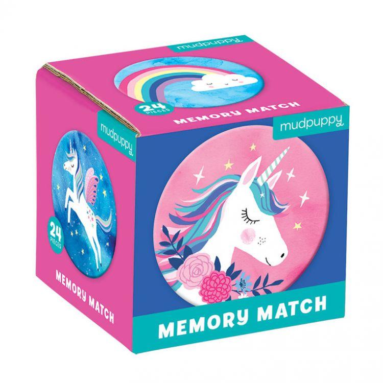 Mudpuppy - Gra Mini Memory Magiczne Jednorożce 3+