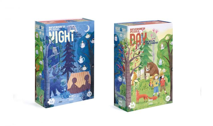 Londji - Puzzle Night & Day in the Forest