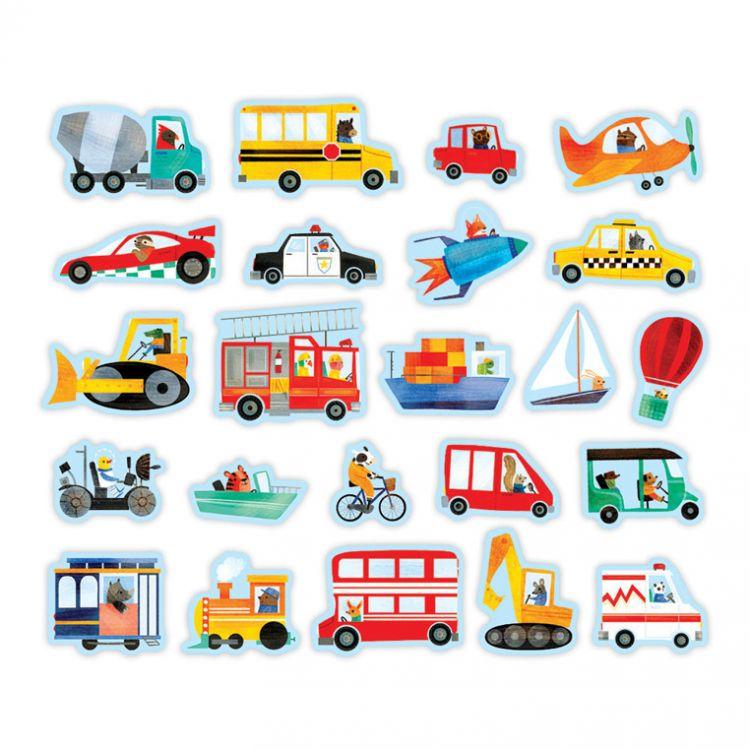 Mudpuppy - Magnesy w Pudełku Środki Transportu 35 Elementów
