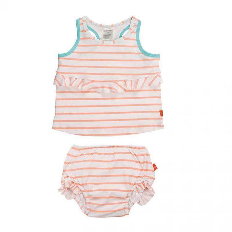 Lassig - Kostium do Pływania Dwuczęściowy z Wkładką Chłonną Sailor Peach UV 50+ 12m