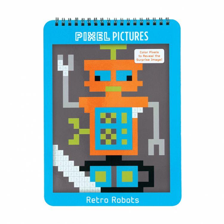Mudpuppy - Kolorowanka Pixele Roboty 4+