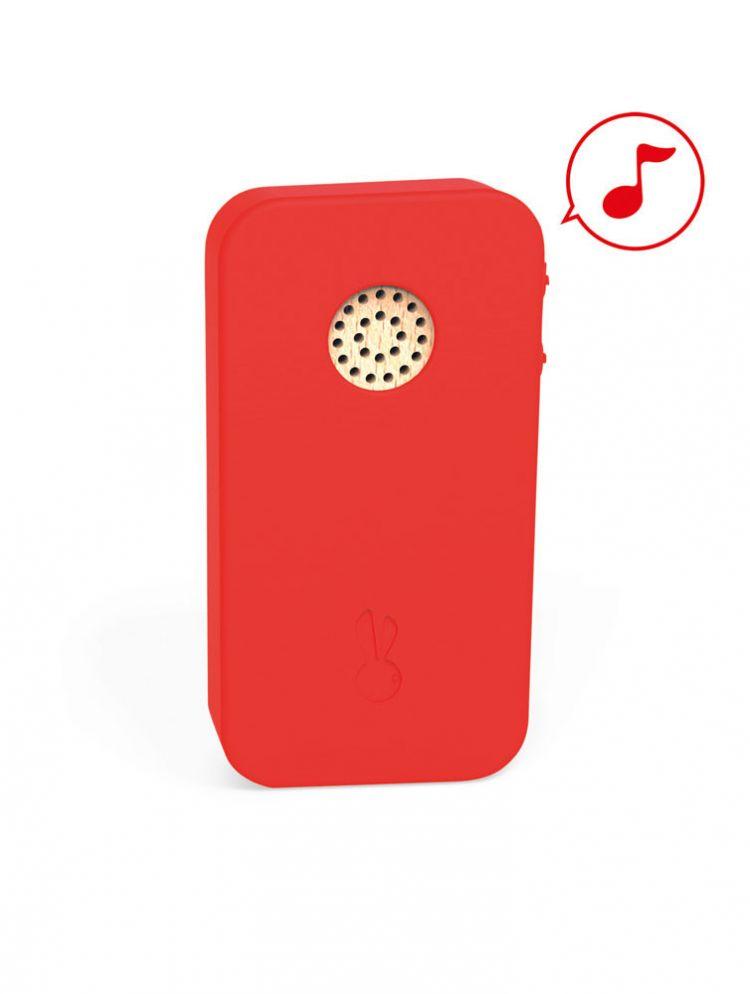 Janod - Telefon Drewniany z Dźwiękami 18m+