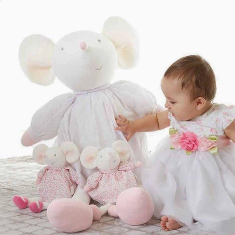 Meiya & Alvin - Przytulanka Meiya Mouse Cuddly Doll XXXL 0m+