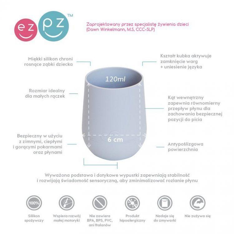 EZPZ - Silikonowy Kubeczek Mini Cup 120ml Pastelowa Szarość