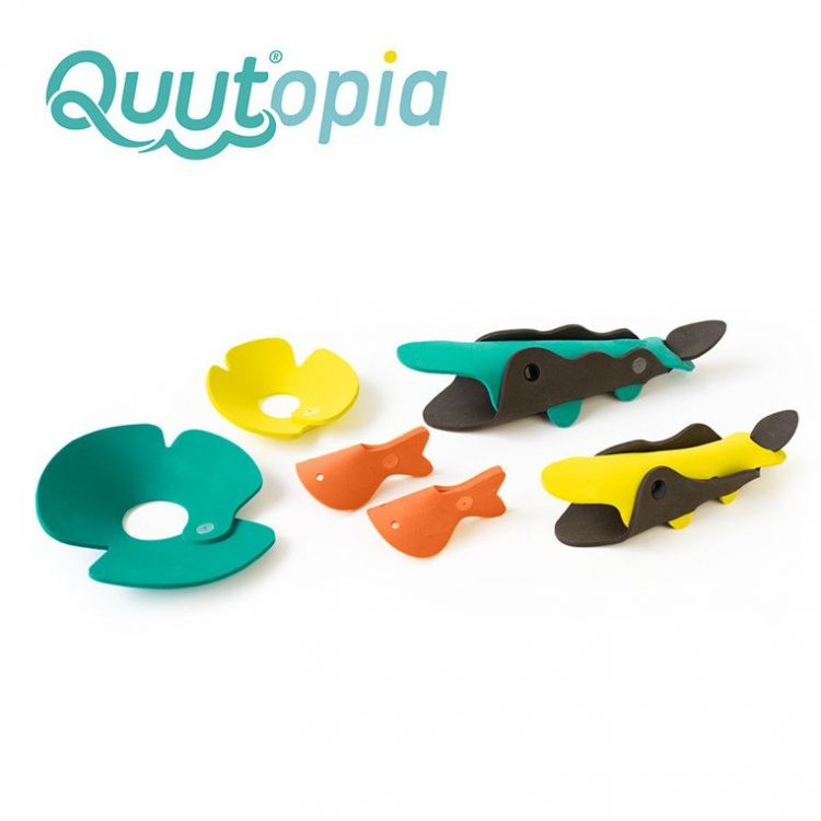 Quut - Zestaw Puzzli Piankowych 3D Quutopia Krokodyle 3+