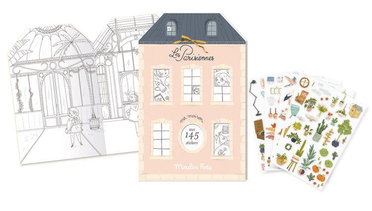 Moulin Roty - Książeczka z naklejkami 20 stron