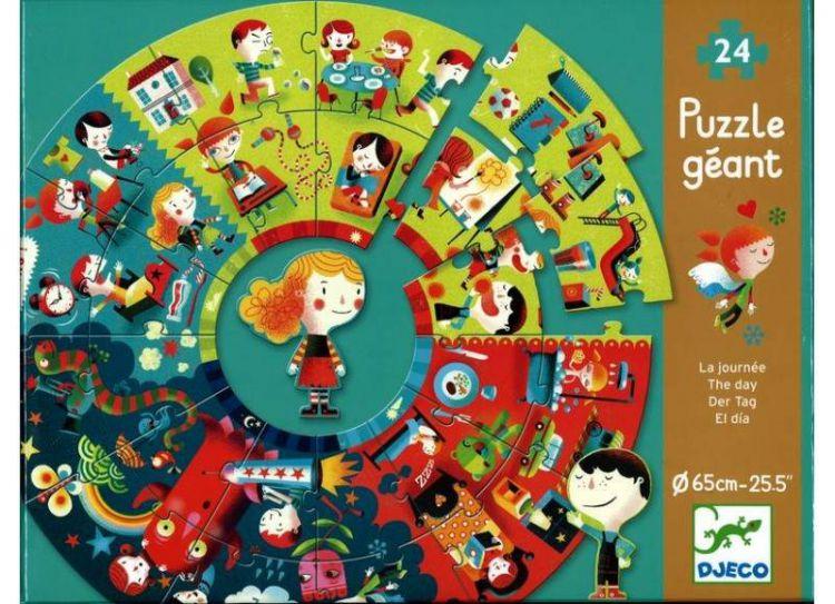 Djeco Puzzle Pory Dnia 24 Elementy