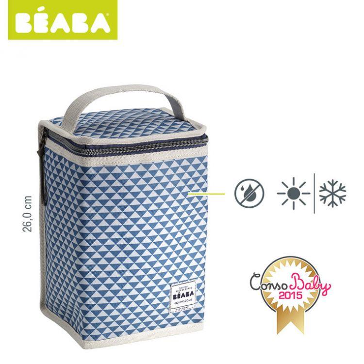 Beaba - Opakowanie Termoizolacyjne Duże Play Print Blue