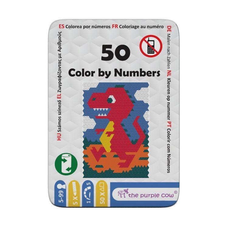 The Purple Cow - Podróżne Łamigłówki 50 Koloruj po Liczbach 5+