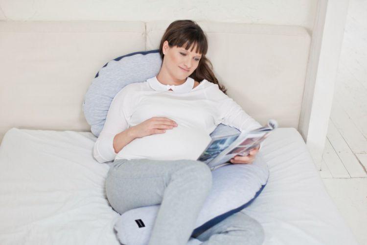 Poofi - Poduszka Do Spania Dla Kobiet w Ciąży Pure Szaro-granatowa