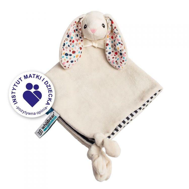 Whisbear - DouDou Kocyk Przytulanka Króliczek Friends of Whisbear® Biały