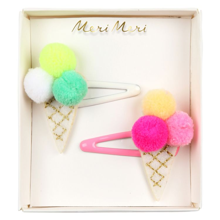 Meri Meri - Zestaw Spinek Pom Pom Ice Cream