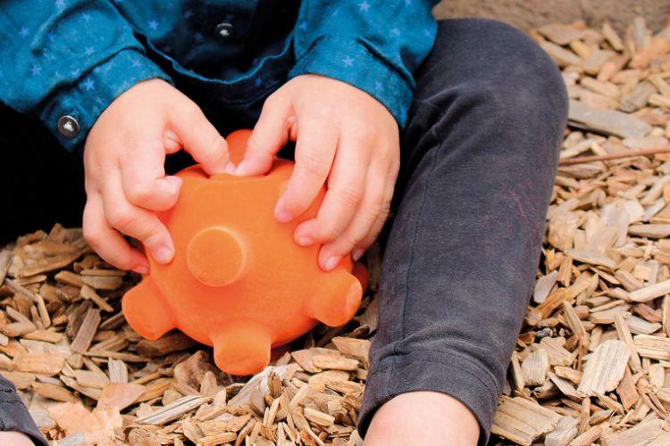 Rubbabu - Piłka Sensoryczna z Mocną Fakturą Mina Pomarańczowa
