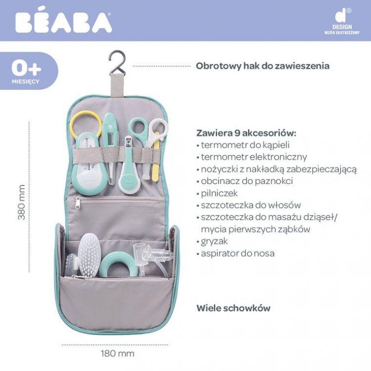 Beaba - Kosmetyczka z 9 Akcesoriami do Pielęgnacji Niemowląt Mint