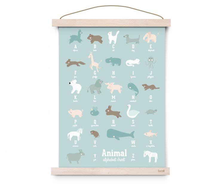 Eef Lillemor - Plakat Animal Alphabet