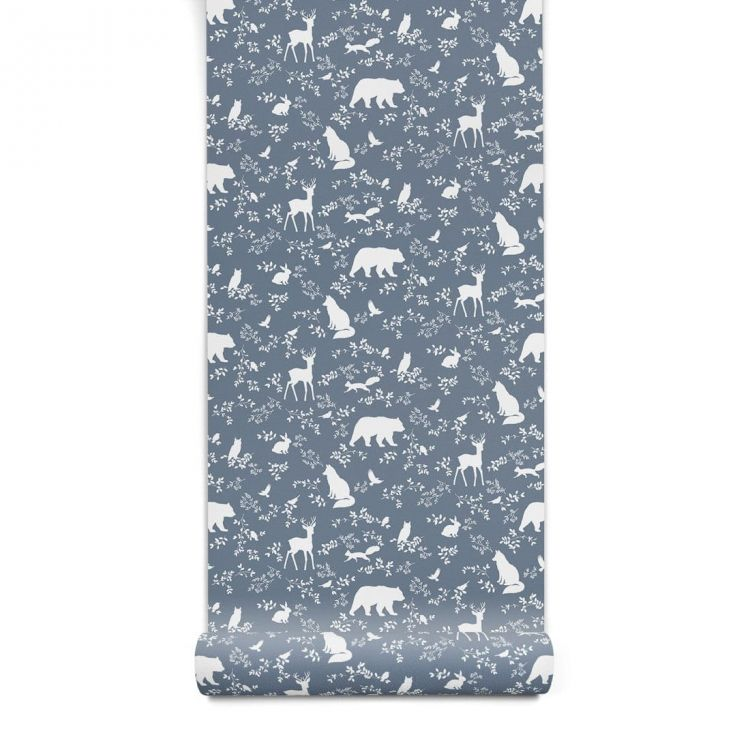Pastelowelove - Tapeta Forest Animals Blue