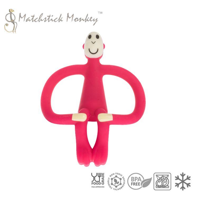 Matchstick Monkey - Gryzak Masujący ze Szczoteczką Red