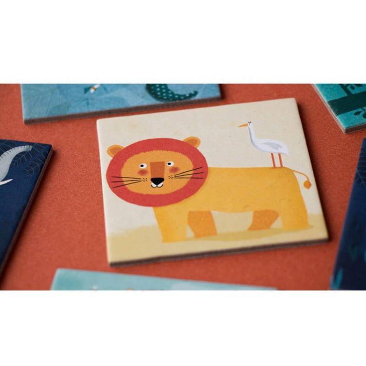 Londji - Gra Memo dla Dzieci Dzikie Zwierzęta 3+
