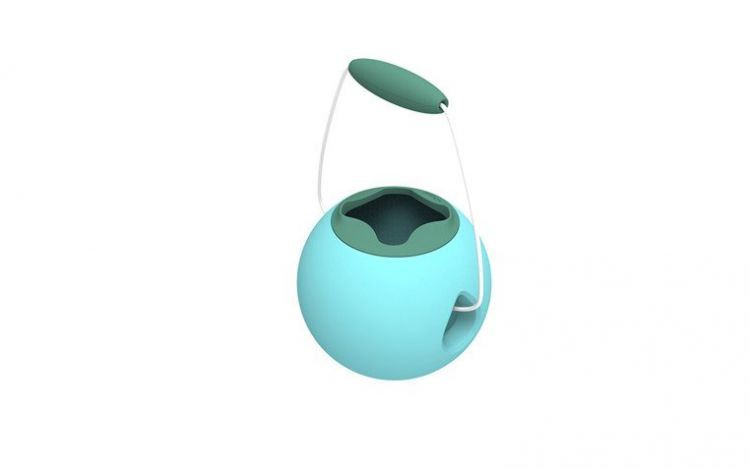 Quut - Mini Ballo Wiaderko Wielofunkcyjne Vintage Blue + Mineral Green
