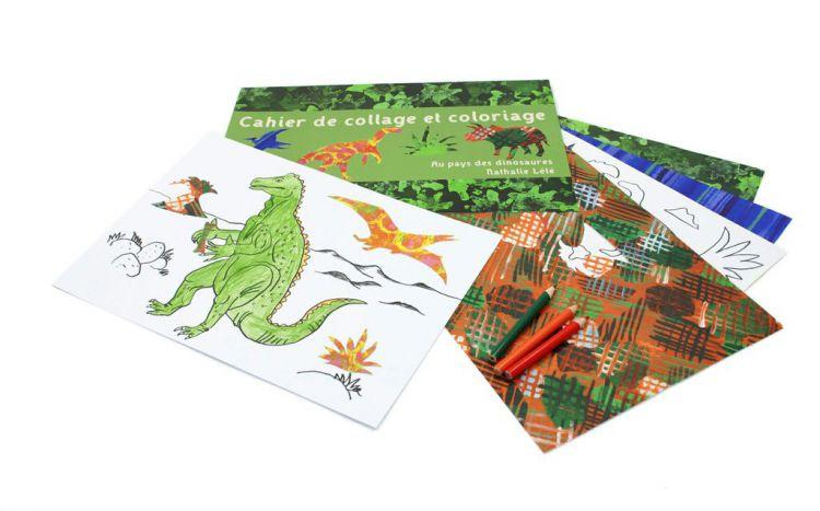 Mon Petit Art Zestaw Kreatywny Kolaże Dinozaury 6+