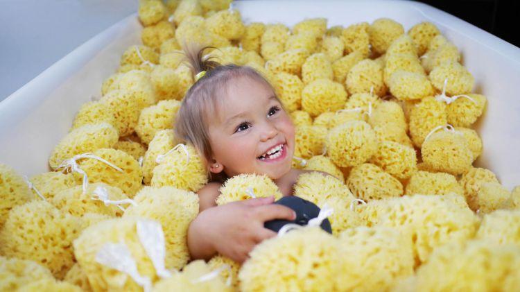 Lullalove - Naturalna Gąbka Morska Honeycomb King Size