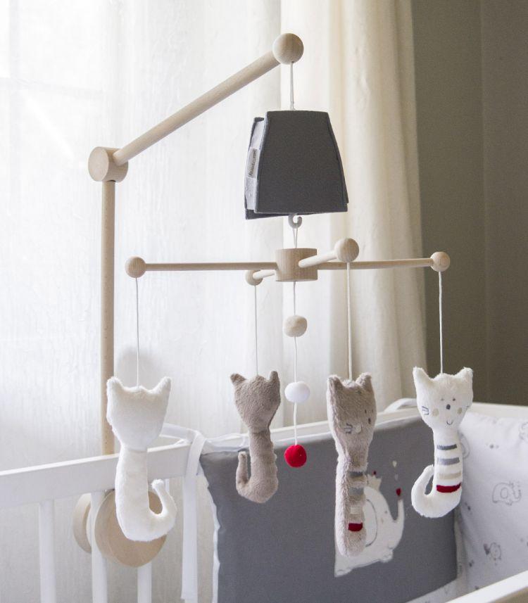 Muzpony - Karuzela do Łóżeczka z Obrotową Pozytywką Kot Ferry