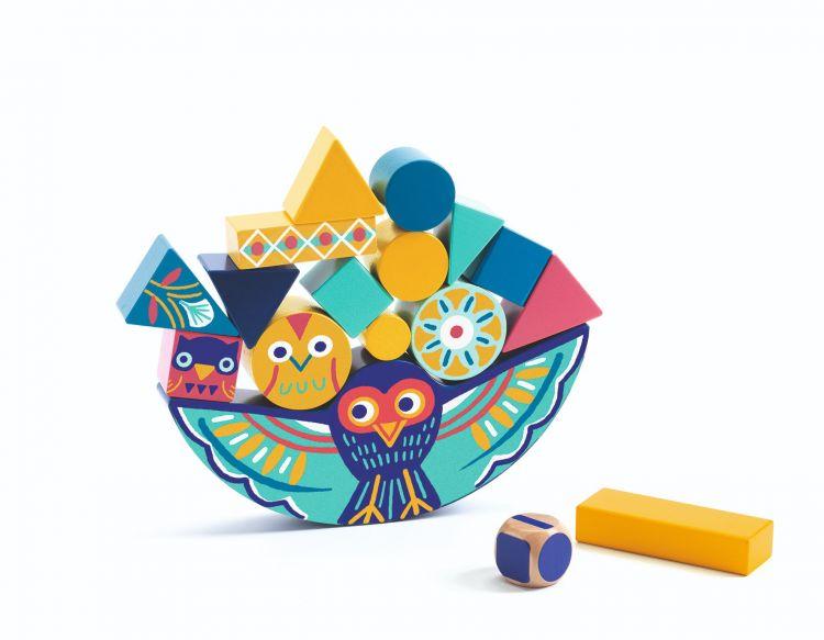 Djeco - Gra Zręcznościowa Balansująca Sowa