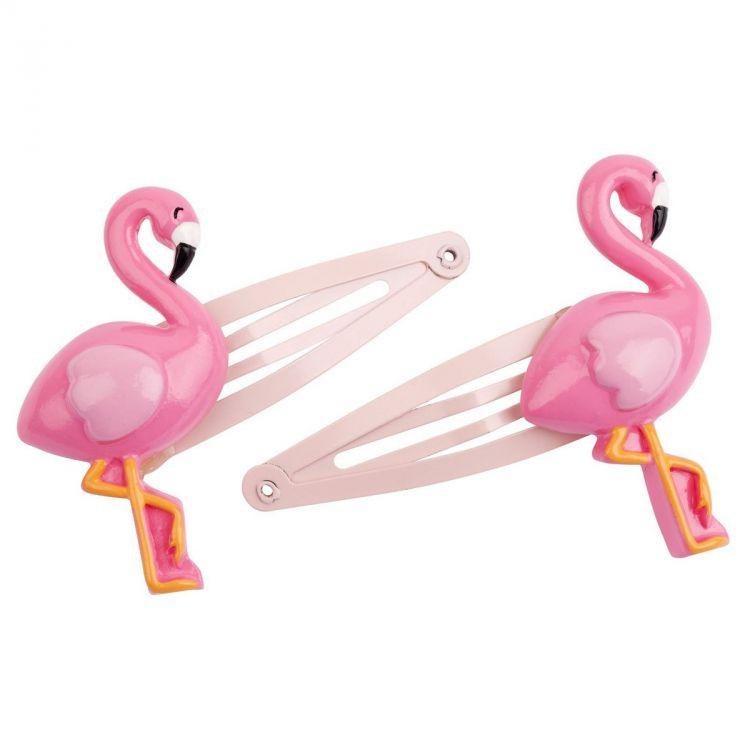 Sunnylife - Spinki do włosów Flamingo