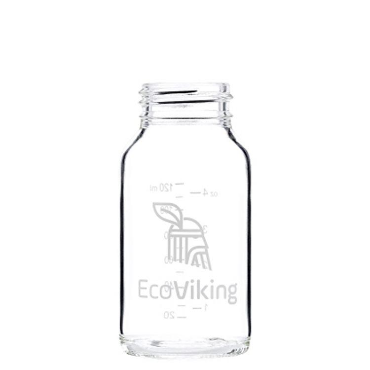 Eco Viking - Antykolkowa Butelka Szklana dla Niemowląt 120 ml Orange