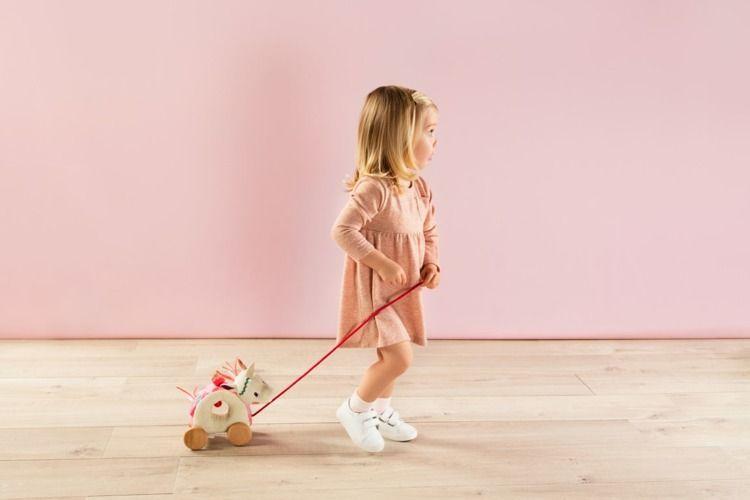 Lilliputiens - Zabawka do Ciągnięcia na Sznurku Jednorożec Louise 1+