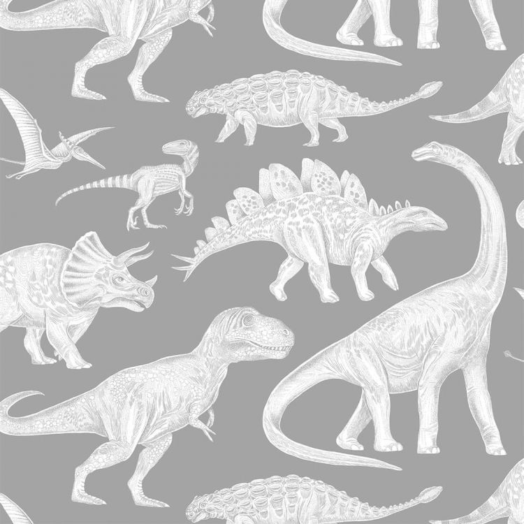 Pastelowelove - Tapeta Dino Grey