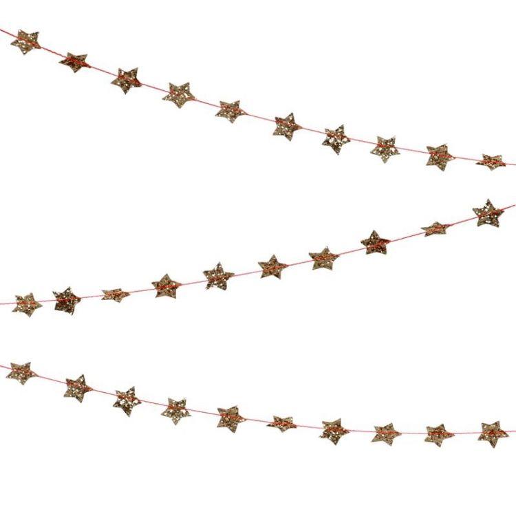 Meri Meri - Girlanda Mini Gwiazdki Złote