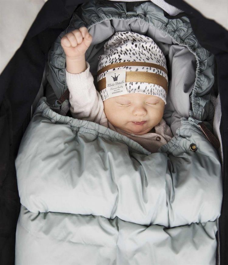 Elodie Details - Puchowy Śpiworek do Wózka Mineral Green