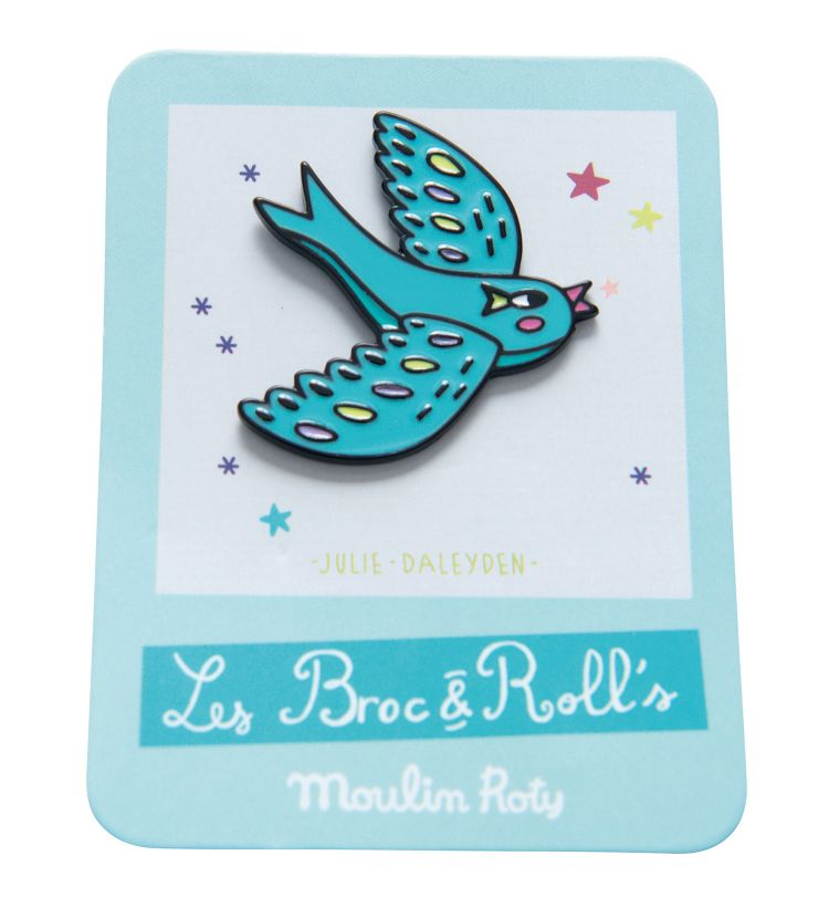 Moulin Roty - Przypinka Emaliowana Ptak