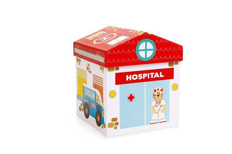 Scratch - Klocki Drewniane Szpital 2w1 3+