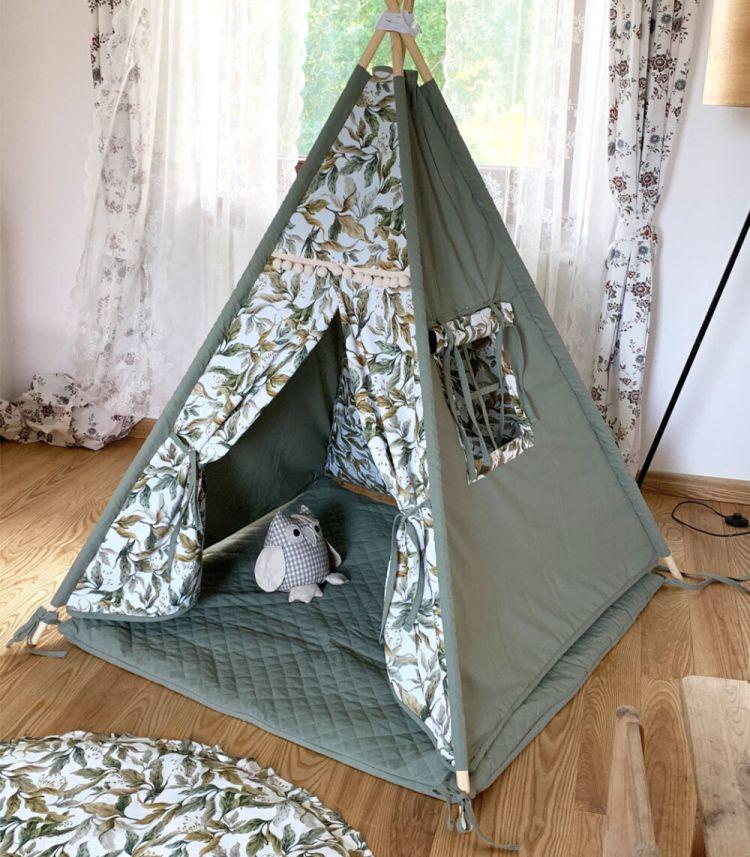 Muzpony - Tipi Amazonia Namiot dla Dzieci z Matą Podłogową 1+